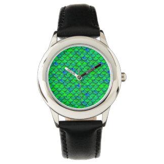 Falln Green Blue Scales Wristwatch