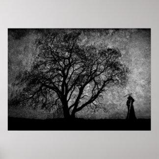 Falln Grim Reaper Original Art Boundaries Between Poster