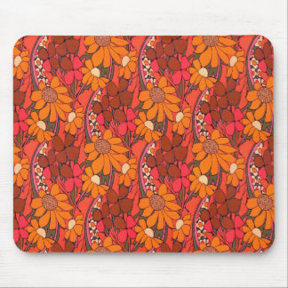 Falln Groovy Flowers Mouse Pad