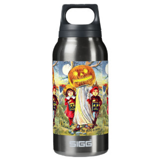 Falln Halloween Pumpkin Ghost Insulated Water Bottle