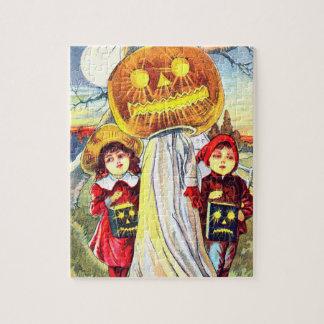 Falln Halloween Pumpkin Ghost Jigsaw Puzzle