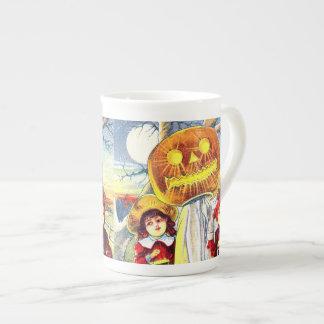 Falln Halloween Pumpkin Ghost Tea Cup