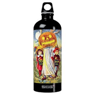 Falln Halloween Pumpkin Ghost Water Bottle