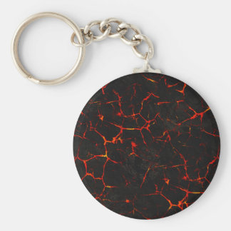 Falln Hot Lava Basic Round Button Keychain
