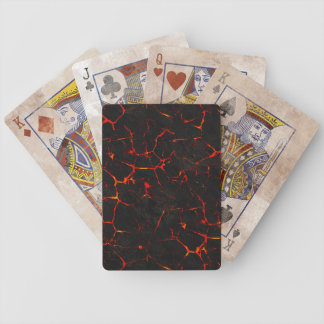 Falln Hot Lava Bicycle Playing Cards