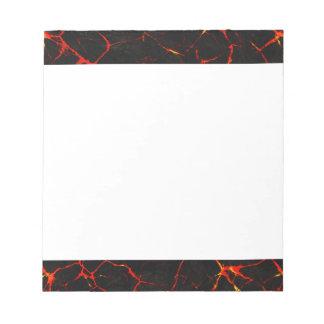 Falln Hot Lava Notepad