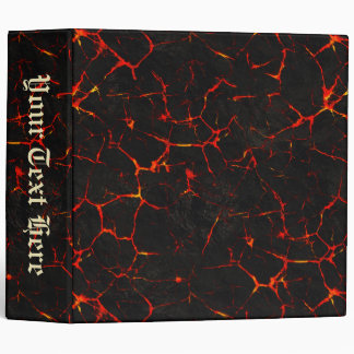 Falln Hot Lava Vinyl Binder