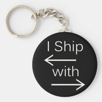 Falln I Ship It (You Choose Background Color!) 2 Basic Round Button Keychain