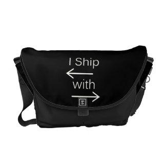 Falln I Ship It (You Choose Background Color!) 2 Messenger Bags