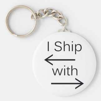 Falln I Ship It (You Choose Background Color!) Basic Round Button Keychain