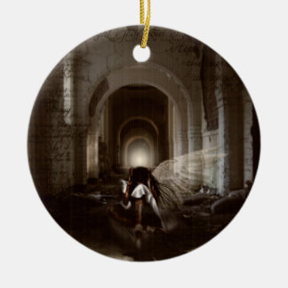 Falln I Thought I Was Your Angel Round Ceramic Ornament