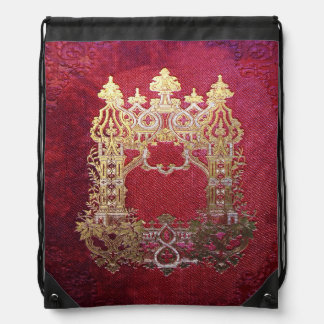 Falln Ink Stained Crimson Drawstring Bag