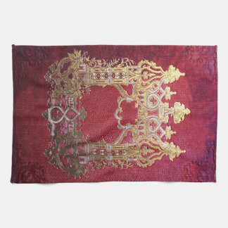 Falln Ink Stained Crimson Kitchen Towel