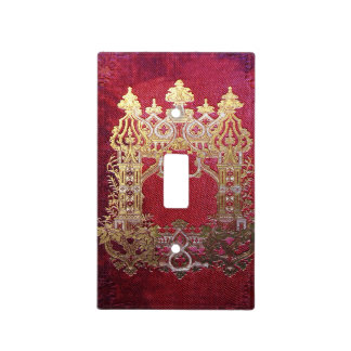 Falln Ink Stained Crimson Light Switch Cover