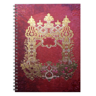 Falln Ink Stained Crimson Notebook