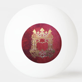 Falln Ink Stained Crimson Ping Pong Ball