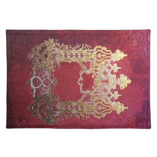 Falln Ink Stained Crimson Placemat
