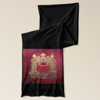 Falln Ink Stained Crimson Scarf