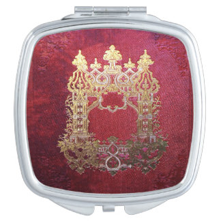 Falln Ink Stained Crimson Vanity Mirror