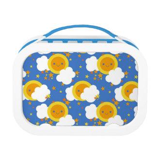 Falln Kawaii Moon, Stars, Sunshine Lunch Boxes