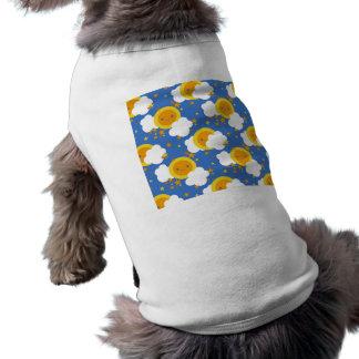 Falln Kawaii Moon, Stars, Sunshine Pet Tee Shirt