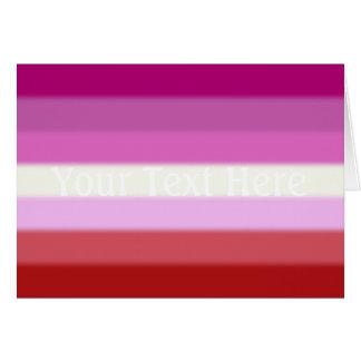 Falln Lesbian Pride Flag Card