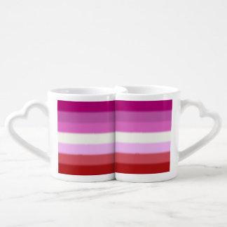 Falln Lesbian Pride Flag Coffee Mug Set