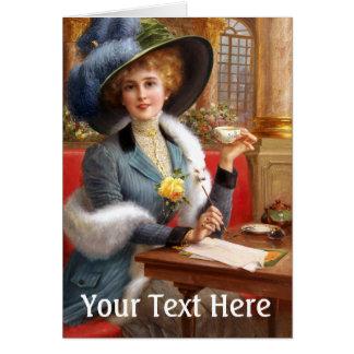 Falln Letters And Tea Card