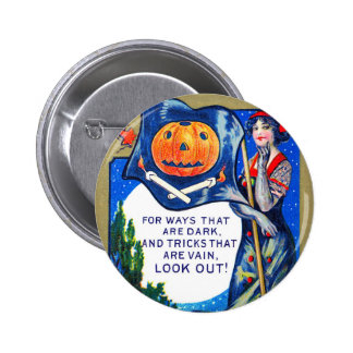 Falln Look Out Halloween Time 2 Inch Round Button