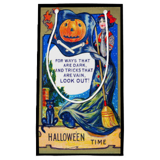 Falln Look Out Halloween Time Small Gift Bag