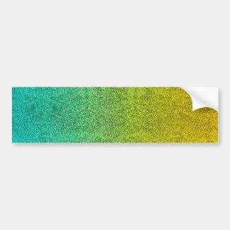 Falln Ocean Sunrise Glitter Gradient Bumper Sticker
