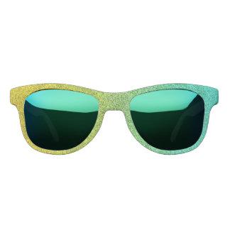Falln Ocean Sunrise Glitter Gradient Sunglasses