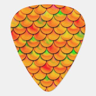 Falln Orange and Green Scales Guitar Pick
