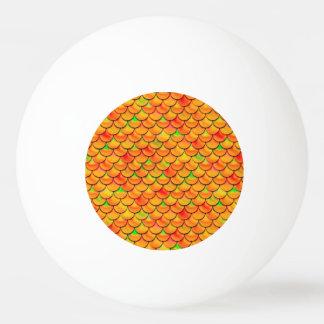 Falln Orange and Green Scales Ping Pong Ball