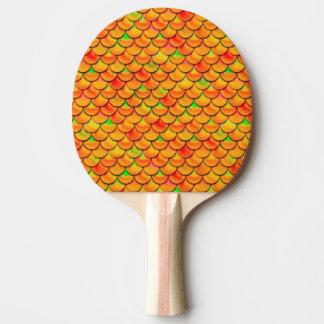 Falln Orange and Green Scales Ping-Pong Paddle