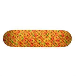 Falln Orange and Green Scales Skate Boards