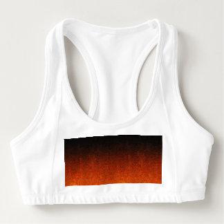 Falln Orange & Black Glitter Gradient Sports Bra