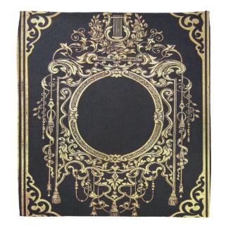 Falln Ornate Gold Frame (Perfect for a Monogram!) Bandana