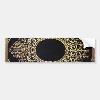 Falln Ornate Gold Frame (Perfect for a Monogram!) Bumper Sticker