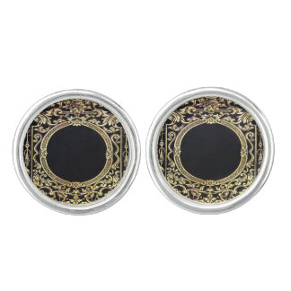 Falln Ornate Gold Frame (Perfect for a Monogram!) Cuff Links