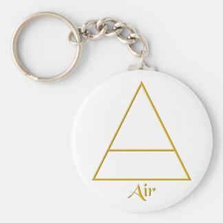 Falln Pagan Air Element Symbol Basic Round Button Keychain