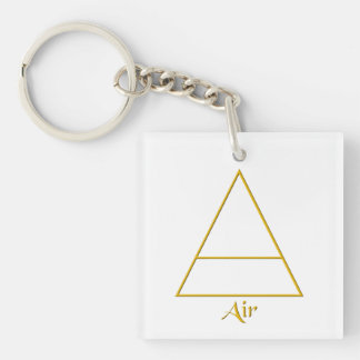 Falln Pagan Air Element Symbol Double-Sided Square Acrylic Keychain