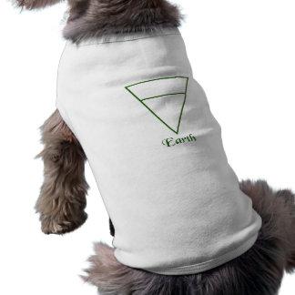 Falln Pagan Earth Element Symbol Doggie Tshirt