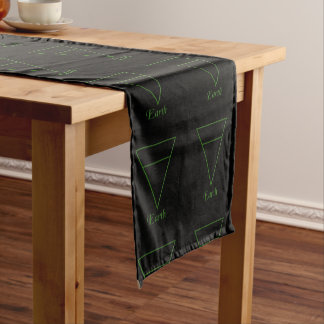 Falln Pagan Earth Element Symbol Short Table Runner
