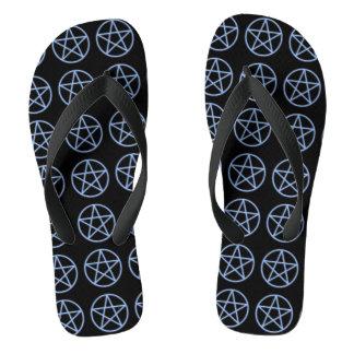 Falln Pagan Pentacle Flip Flops