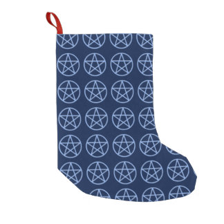 Falln Pagan Pentacle Small Christmas Stocking