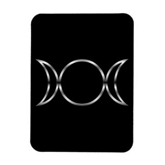 Falln Pagan Triple Goddess Symbol Rectangular Photo Magnet