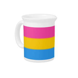 Falln Pansexual Pride Flag Beverage Pitcher