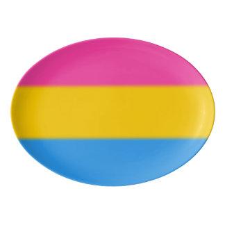 Falln Pansexual Pride Flag Porcelain Serving Platter