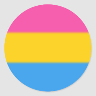 Falln Pansexual Pride Flag Round Sticker